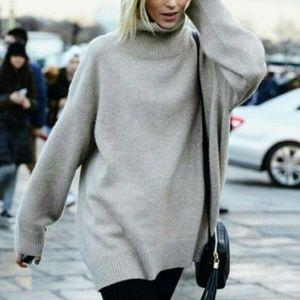 2/$30 H&M Gray Oversized Knit Sweater Dress